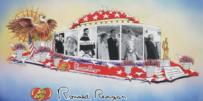Vote for Reagan in Rose Bowl Parade