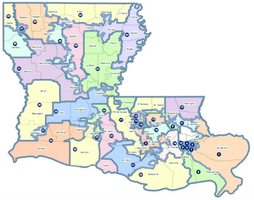 Louisiana Voting Districts Map MAP - Louisiana us representative map