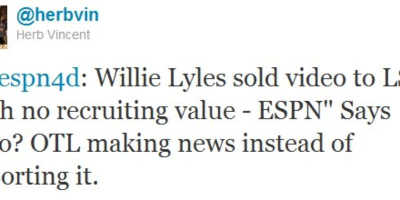 On This LSU-Will Lyles-ESPN Business…