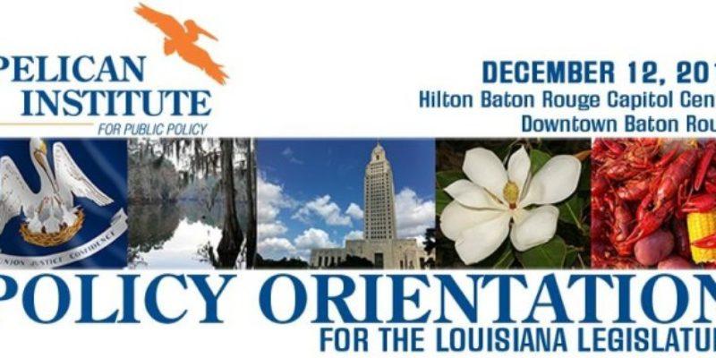 Pelican Institute Announces Policy Orientation Program For Leges, General Public Dec. 12