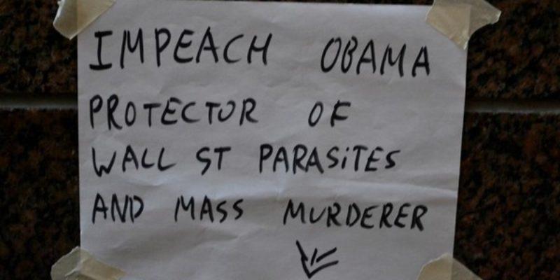 Occupiers Diss Obama