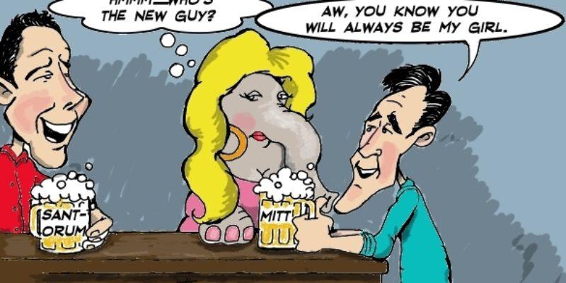Hayride Cartoon: Always With The Roving Eye…