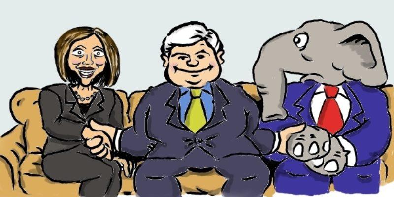 Hayride Cartoon: Newt's Real Open Marriage Problem…