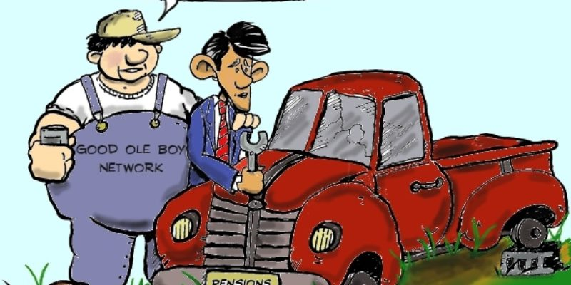Hayride Cartoon: Hey, Bobby, Before You Fix That Pension Problem…