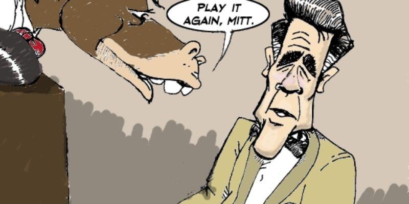 Hayride Cartoon: Maybe Romney Should Keep To Singing 'America The Beautiful'