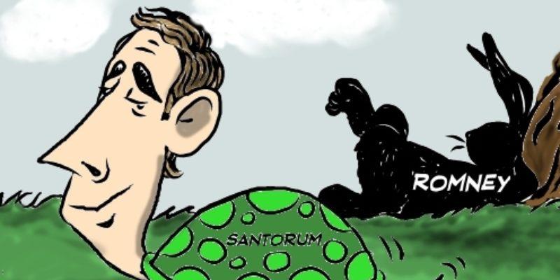 Hayride Cartoon: The Slow And Steady Santortoise