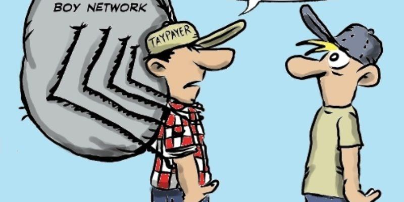 Hayride Cartoon: What's That Sucking Sound?