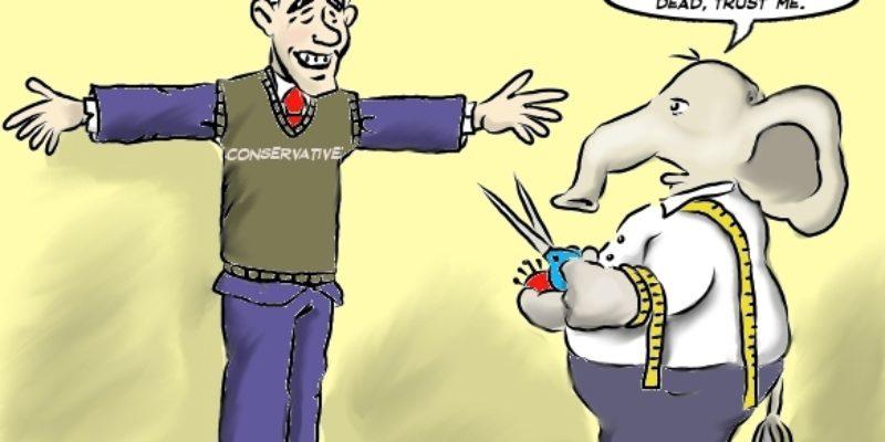 Hayride Cartoon: How's The Fit, Mitt?