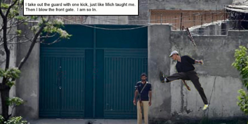 Obama Shows How He Took Out Bin Laden With A 5-Iron