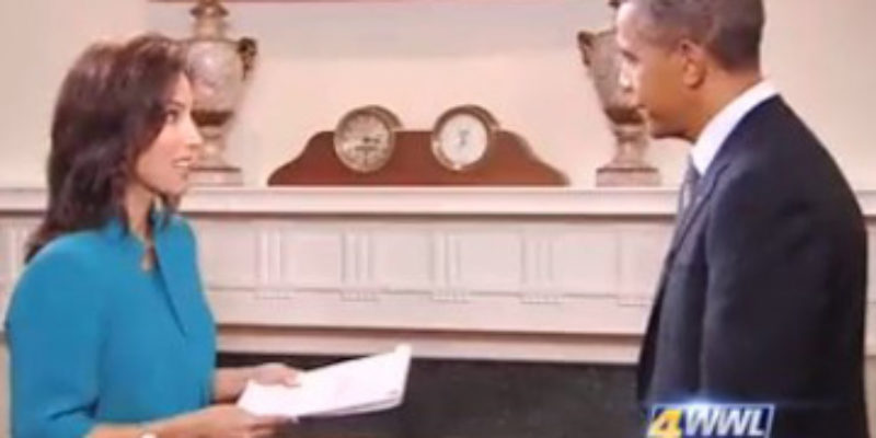 Obama's Inane Comments To WWL's Karen Swenson