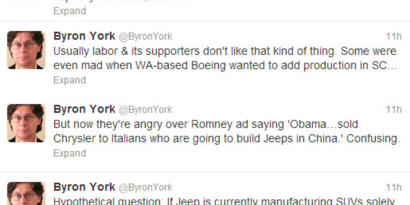 Seems Like Romney Hit Obama Right In The Jeeps, And The Lefties Don't Like It