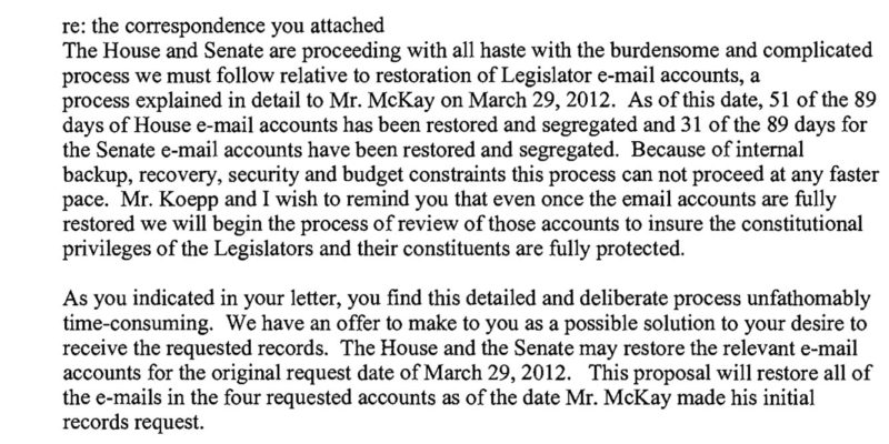 What You Can Learn From A Public Records Request At The State Legislature