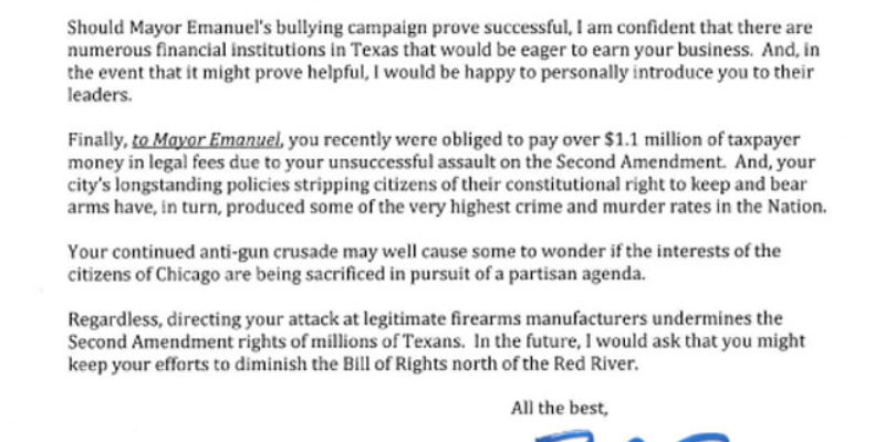 Have You Seen Ted Cruz' Letter To Rahm Emanuel?