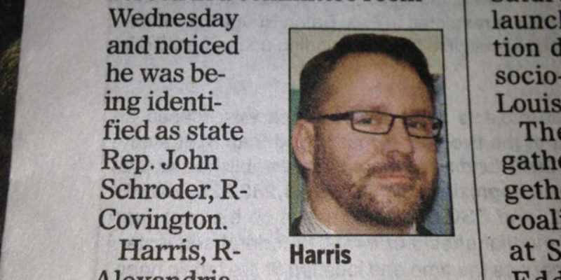 Rep. Lance Harris Must Not Be Ready For Prime Time…