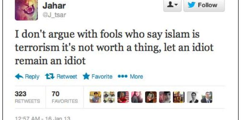 UPDATED: An Ironic Tweet From Dzhokhar Tsarnaev…