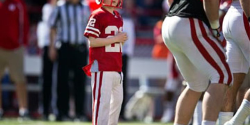 WAY COOL: The 7-Year Old Kid Who Scored In Nebraska's Spring Game