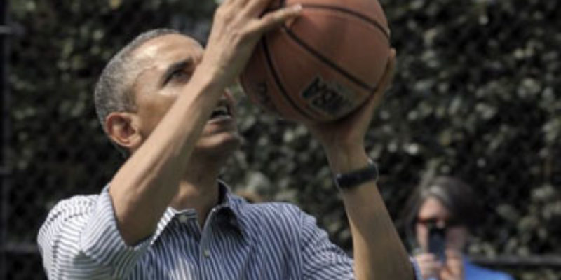 UPDATED: Obama Lays Brick After Brick At White House Hoop Court