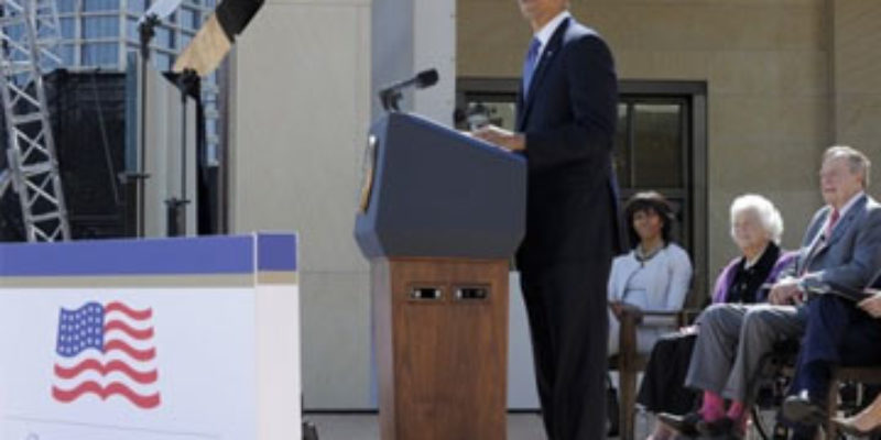 OF COURSE: Obama Decides To Politicize The Bush Library Dedication