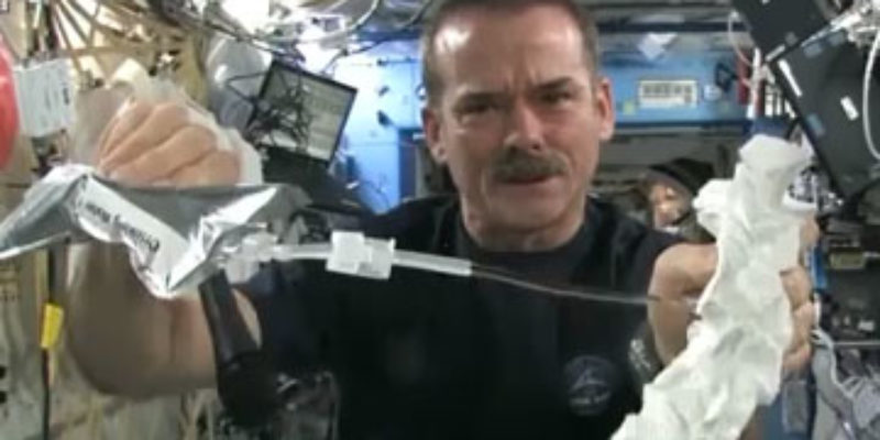 REALLY COOL: What Happens When You Wring Out A Washcloth In Space?