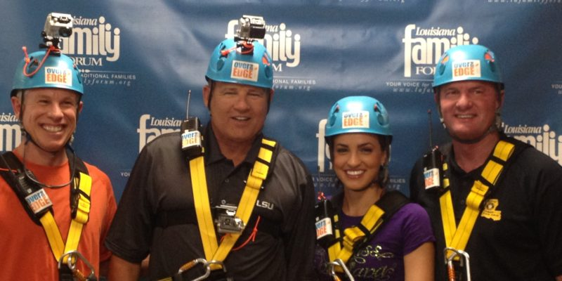 Les Miles Kicks Off 'Over The Edge for Adoption'