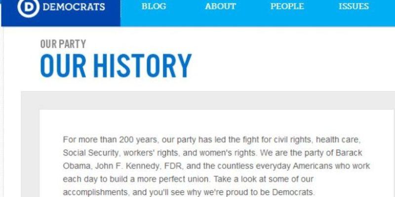 Interesting Interpretation Of History At The DNC's Website