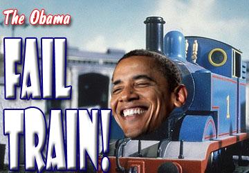 obama fail train