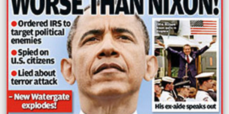 Obama Scandals Hit Grocery-Store Scandal Sheets