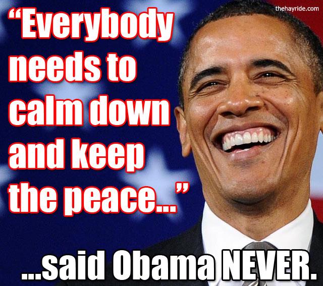 obama keep the peace