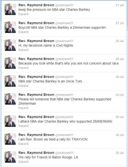 rev raymond brown tweets