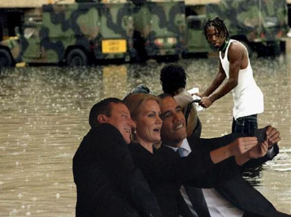 katrina flood selfie