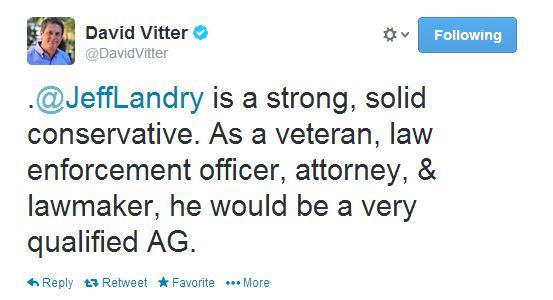 vitter endorses landry