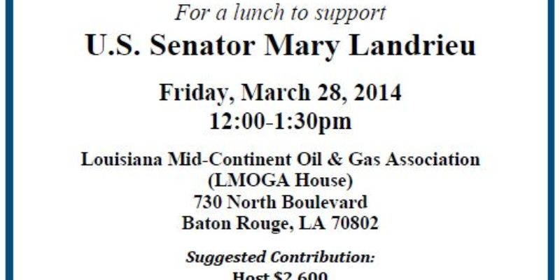 LMOGA And LCA Are Aiming To Raise Lots Of Cash For Mary Landrieu