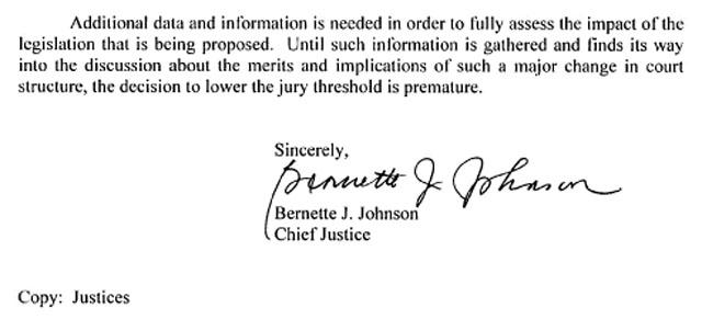 CJ Johnson Jury Thresholds Ltr to Legislature-2