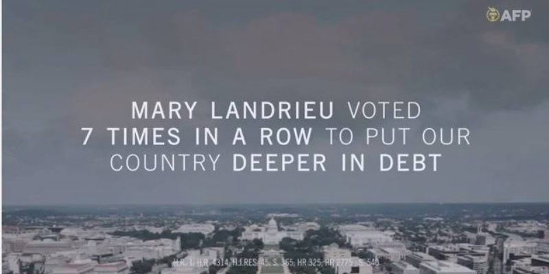 AFP Changes The Subject In Their Newest Mary Landrieu Ad