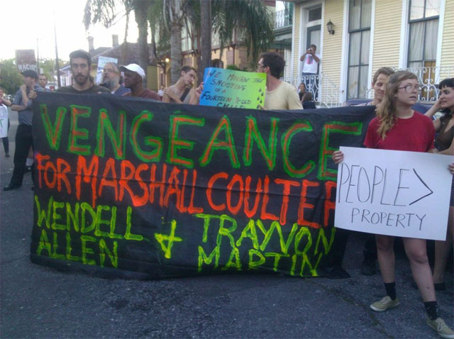 marshall coulter protest