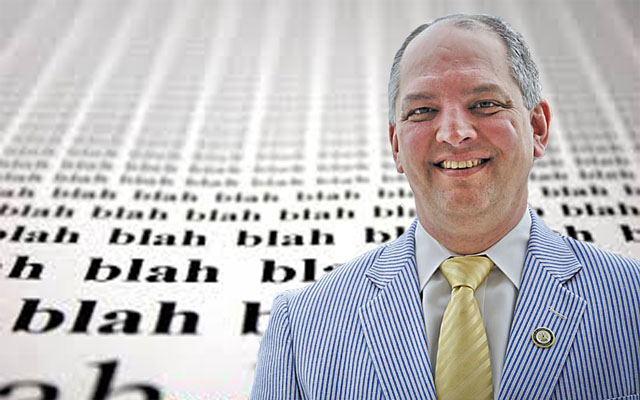 SADOW: John Bel Edwards Spouts Drivel About Budgets And More