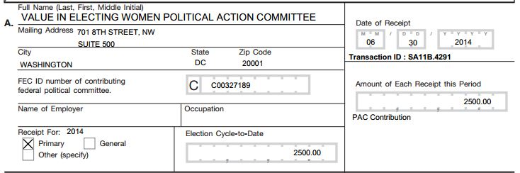 value in electing women pac