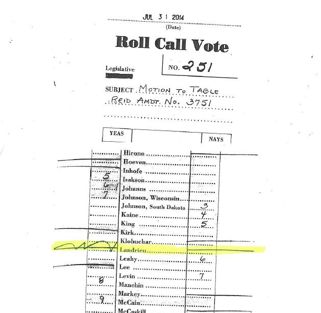 Mary Landrieu vote