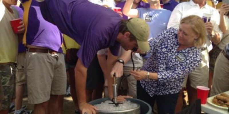 On The Same Day Mary Was Helping Drunks Do Keg-Stands At LSU, She Sent This Out