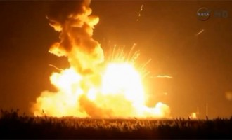 VIDEO: The Antares Rocket Explosion And Crash