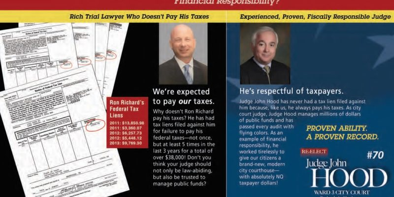Alleged Adulterer Lake Charles Judge Claims Opponent Doesn't Pay Taxes