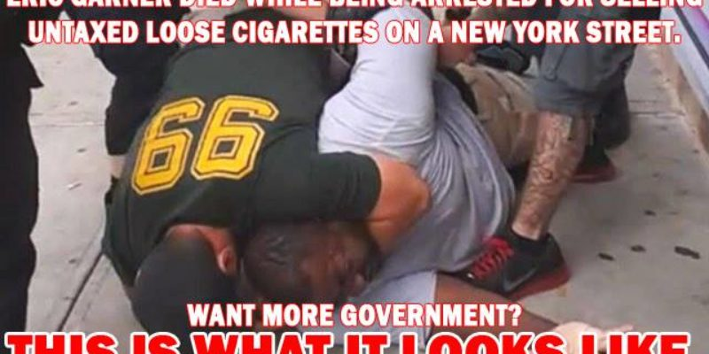 Big Government Killed Eric Garner; Where's The Indictment Against It?