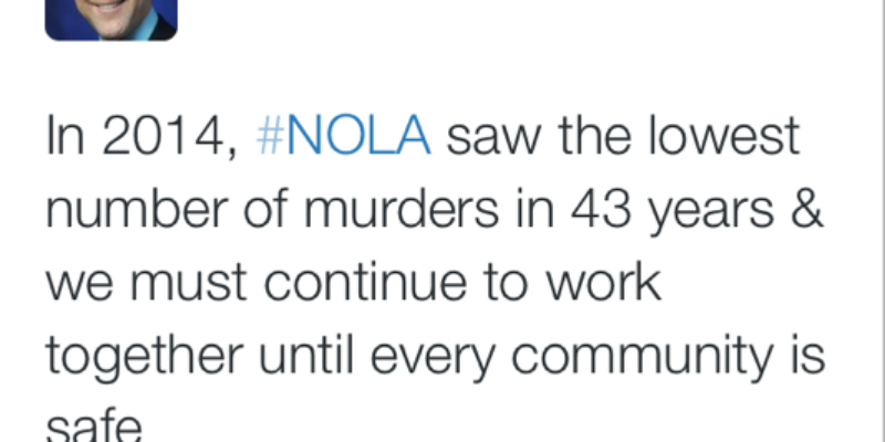 Murder Rate Falls In Mitch Landrieu's New Orleans, But Violent Crime Is Rising