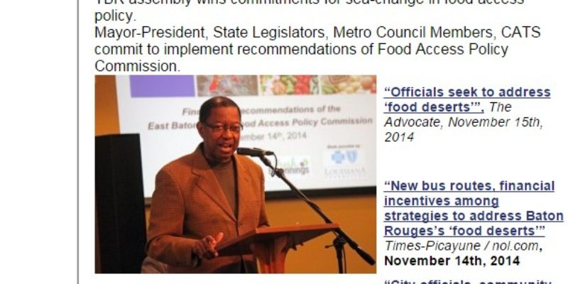 """HUDSON: Together Baton Rouge Loses the """"No Access to Food"""" Argument"""