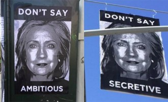 How This Ingenious Anti-Hillary Clinton Street Art Will Win Over Millennials