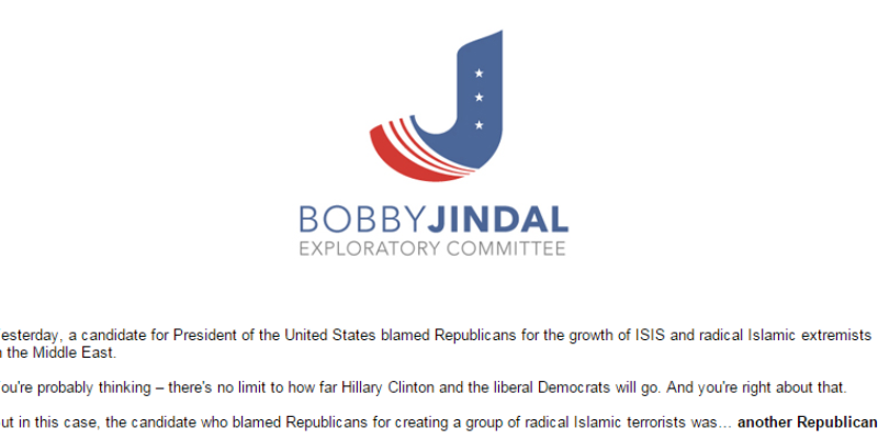 After Violating State Law, Jindal's Exploratory Committee Is Still Going After Rand Paul