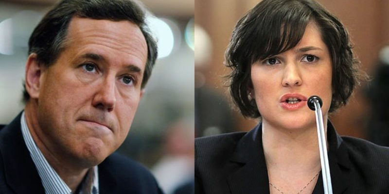 Sandra Fluke And Rick Santorum Have Something In Common
