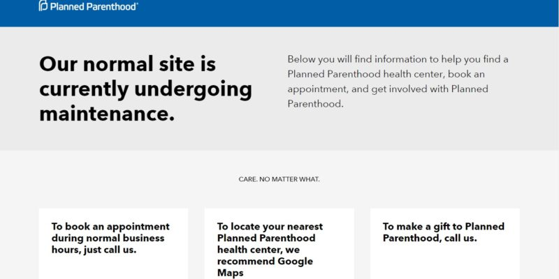 There Is Something Fishy About Planned Parenthood Gulf Coast's Website