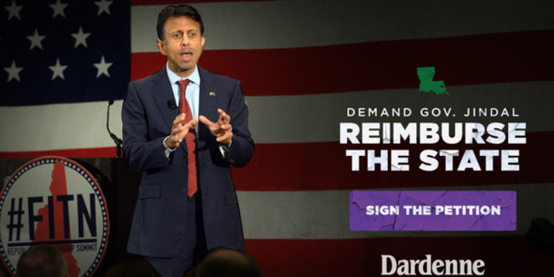 Dardenne Continues To Beat The Drum About Jindal's Campaign Travel, And The Pushback Is Inevitable