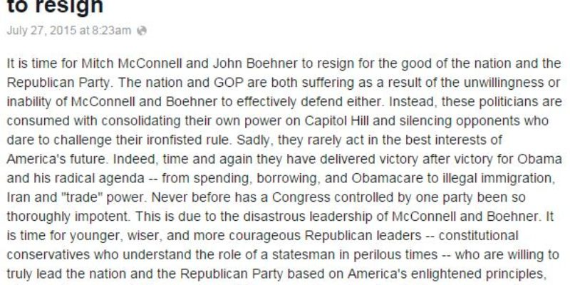 Mark Levin Calls For McConnell And Boehner To Resign